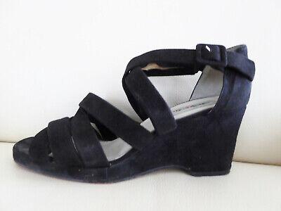 ANDIAMO Echt Leder Pumps Sandaletten Wedges Gr. 41 schwarz | eBay