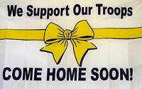 We Support Our Troops Chs 3' X 5' Banner Flag