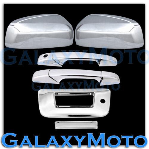 07-13 Chevy Silverado Chrome Top Mirror+2 Door Handle+Tailgate w// Keyhole Cover