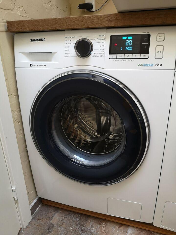 Samsung vaskemaskine, WW5000 WW90J5426FW, frontbetjent