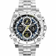 NEW BULOVA MENS PRECISIONIST CHAMPLAIN CHRONOGRAPH TUNING FORK DIAL WATCH 96B175
