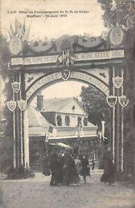 CPA 14 HONFLEUR FETES DU COURONNEMENT DE N.D.DE GRACE HONFLEUR 1913