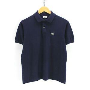 Lacoste-Women-039-s-Polo-Shirt-Size-16-in-Dark-Blue-Cotton-Short-Sleeve-EF4517