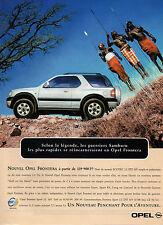 Publicité Advertising 1999  NOUVEL OPEL FRONTERA 4*4 moteur