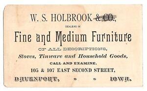 Image Is Loading 1890s W S Holbrook Furniture Dealer Davenport Iowa Victorian