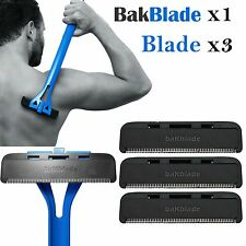 1x Bakblade with 3 Back Hair Remover Shaver Set for Mens Easy to Use Razor