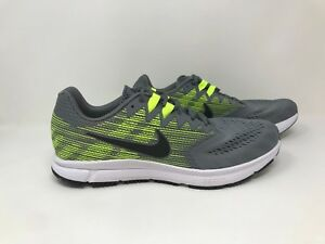 53d4a1a338ad New! Men s Nike 908990-007 Zoom Span 2 Running Shoes - Gray Yellow ...