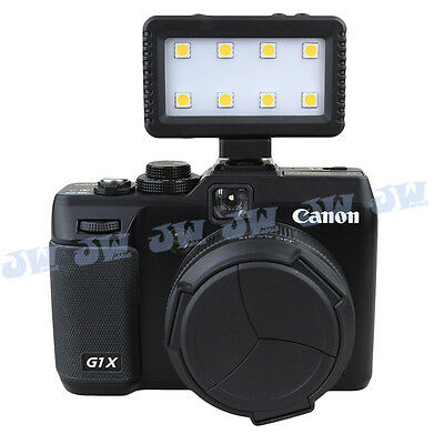 JJC Mini Video Light with Hot Shoe & 3.5mm Jack Adapters for DSLR Camera Phone