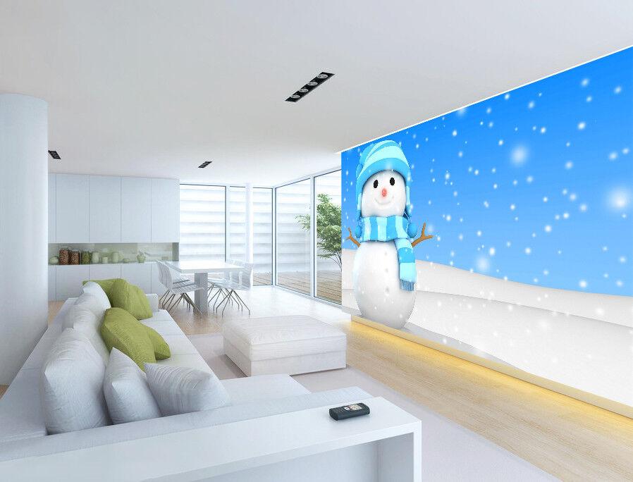 3D Winter Schneemann Schneemann Schneemann Himmel 93 Tapete Wandgemälde Tapeten Bild Familie DE Jenny | Ausgang  303eb0
