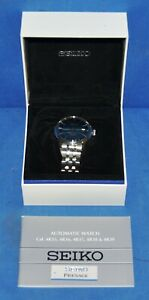 Seiko-Men-039-s-Presage-Automatic-Stainless-Steel-Blue-Sunray-Dial-Watch-SRPB41