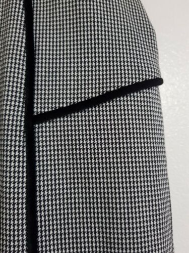 NEW Peacocks 8-20 Checked Houndstooth Pencil Midi Skirt Smart Work Formal Grey