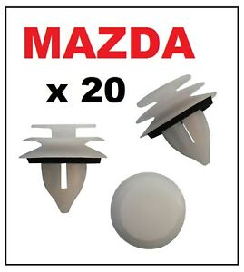 20-x-MAZDA-Door-Card-Interior-Trim-Panel-Retainer-Clip-Fastener-with-Washer