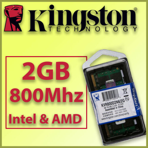 100/% COMPATIBLE Intel y AMD RAM DDR2 2GB 800Mhz Portátil SO-DIMM ¡ NUEVA !