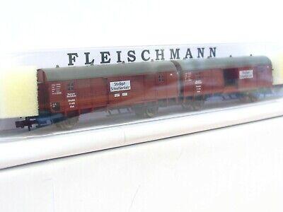 Fleischmann N off LN4080 Güterwagen Om mit Holzladung DB EVP