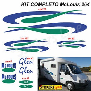 Kit-completo-adesivi-per-Camper-MC-LOUIS-GLEN-264-McLouis-Linea-Professionale