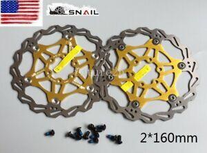 AM Snail Bike Bicycle Disc Brake Rotor Floating MTB Rotors 160mm