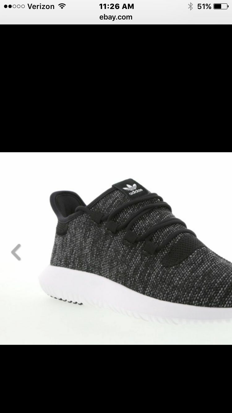 ADIDAS TUBULAR SHADOW KNIT SIZE 9 BLACK WHITE