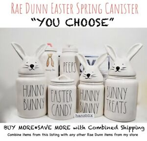 Rae-Dunn-Canister-HUNNY-BUNNY-EASTER-CANDY-PEEPS-JELLY-BEANS-034-YOU-CHOOSE-034-039-20