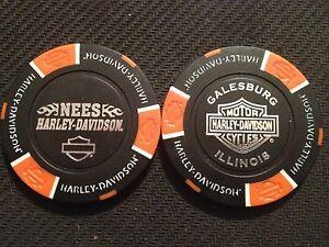 Harley Davidson Chip (Black & Orange)