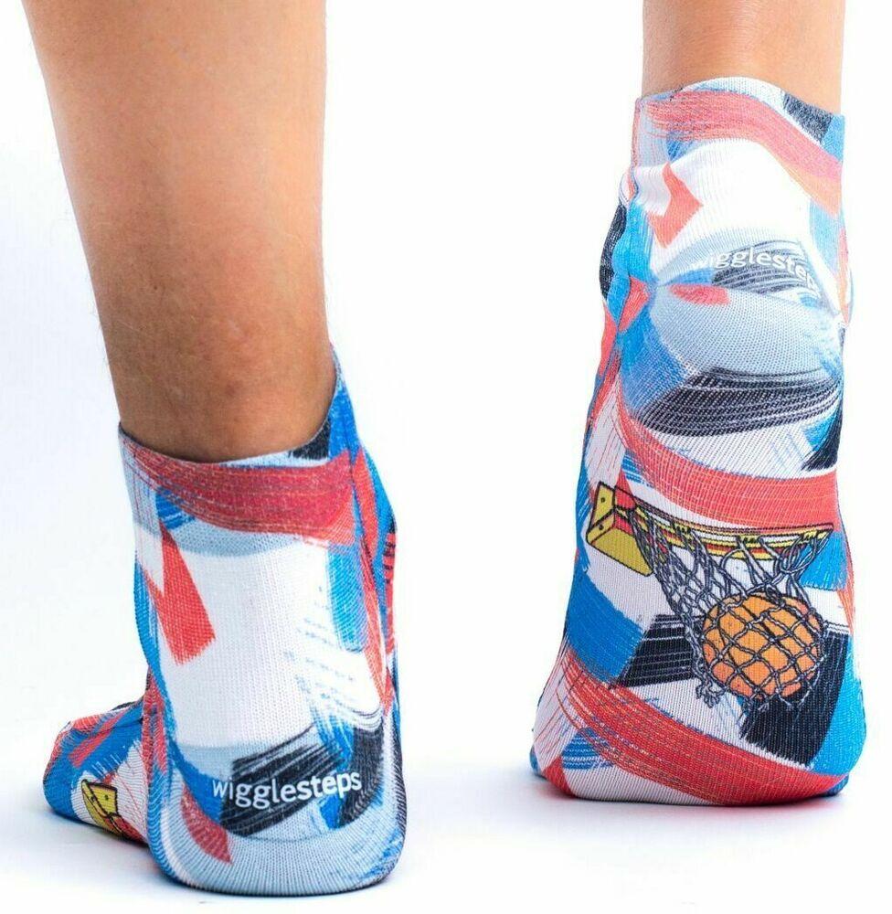 imprimées WIGGLESTEPS Sneaker-Chaussettes avec Talon taille 36-40 Coton