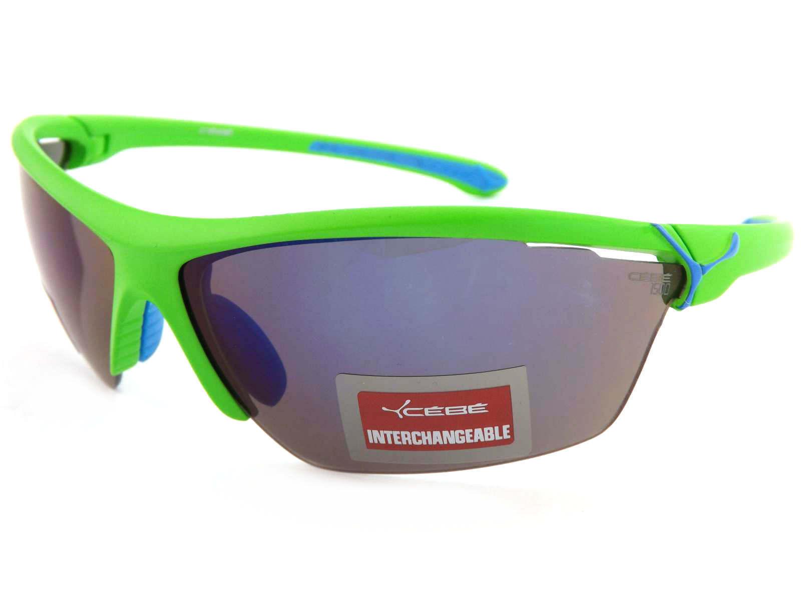 CEBE Cinetik 12 Linse Sonnenbrille grün/grau blau Blitz Spiegel + gelb + Klar