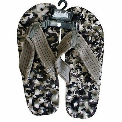 Kokoda Knobby Khaki Green Camo Thongs, Flip Flops, Massage, Cloth Perfect Gift!