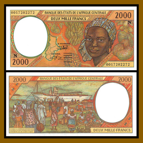 C.A.S Central African States Equatorial Guinea 2,000 Francs, 2000 P-503Ng