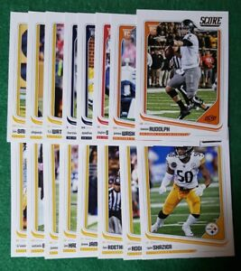2018-Score-Pittsburgh-Steelers-Team-set-Mason-Rudolph-RC-18-cards-6-rookies