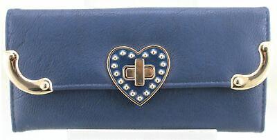Ladies Womens Beautiful Designer Faux Leather Twist Clasp Clutch Wallet Purse