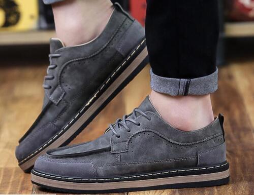 New England Homme cuir Chaussures de loisirs Cravate Antidérapant Chaussures De Sport Baskets