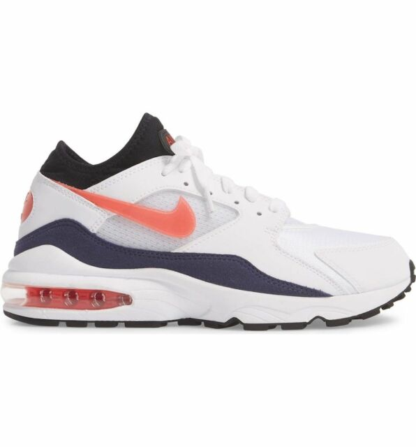 Mens nike air max 93 og Running Shoes White Flame Red 306551 102 306551 102
