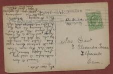 Nina Dent, 3 Alexandra Terrace, Ilfracombe 1910   pc zk6