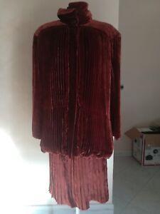 Giorgio Correggiari Giaccia rok vrouw pak en Vintage fluwelen rQCshdtxB