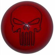 Red Punisher Skull shift knob Fits Mustang Cobra M12x1.75 thrd U.S. Made
