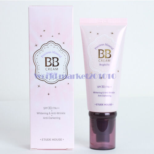 Etude House Precious Mineral BB cream Bright Fit #W24 Honey Beige 60g freebie