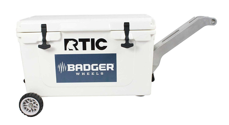 Badger Wheels RTIC Original Wheel Kit - Single Axle + Handle Stand RTIC 45 65
