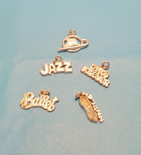 Sterling Silver Dance Forever Ballet Jazz Top Hat And Cane Charm You Choose 925
