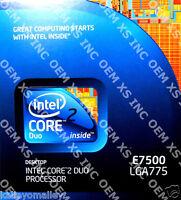 Intel Bx80571e7500 Slgte Core 2 Duo E7500 3m Cache, 2.93 Ghz, 1066mhz Retail Box