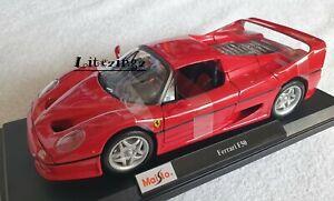 MAISTO-1-18-Diecast-voiture-modele-edition-speciale-Ferrari-F50-rouge