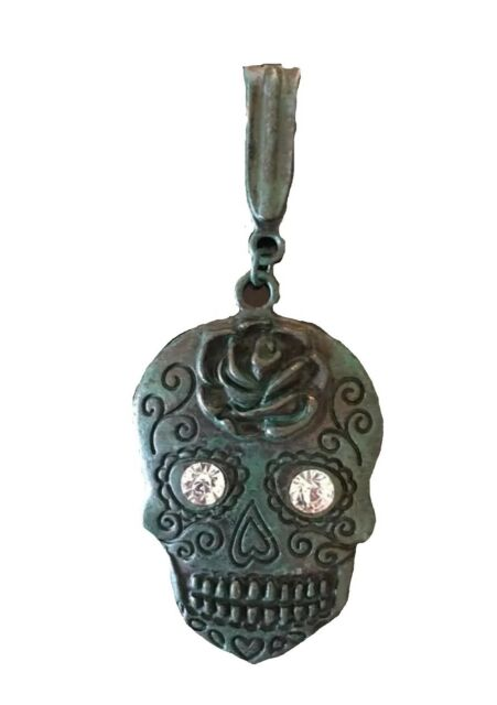 c95246dd0 Day of the Dead Sugar Skull Turquoise Color Pendant Dia De Los Muertos NEW