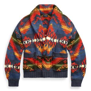 Antibióticos Paternal inoxidable  Polo Ralph Lauren Southwestern Geometric Flag Shawl Cardigan Sweater New    eBay