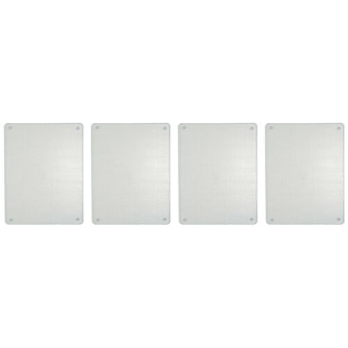 4 Stück 40 x 30 x 0,4 cm klar Glas my basics 35400 mb Schneidebrett