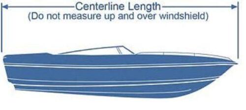 Ski I//O Trailerable Boat Cover Burgundy Color B2236R 14/' 15/' 16/' V-Hull Fish