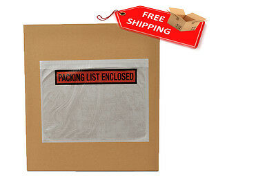 """8000 Packing List Enclosed Envelope Self-Adhesive Panel Face 7.5""""x5.5"""" TOP LOAD"""