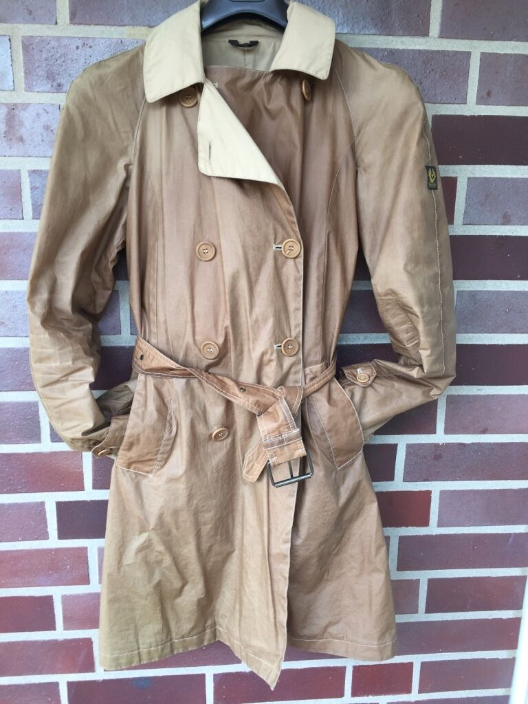 Original BELSTAFF Light Otter Trench Trenchcoat Gr. 36 (ital. 42)  TOP