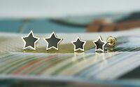 14k Yellow Gold Baby Enamel Star Screw Back Stud Earring For Children
