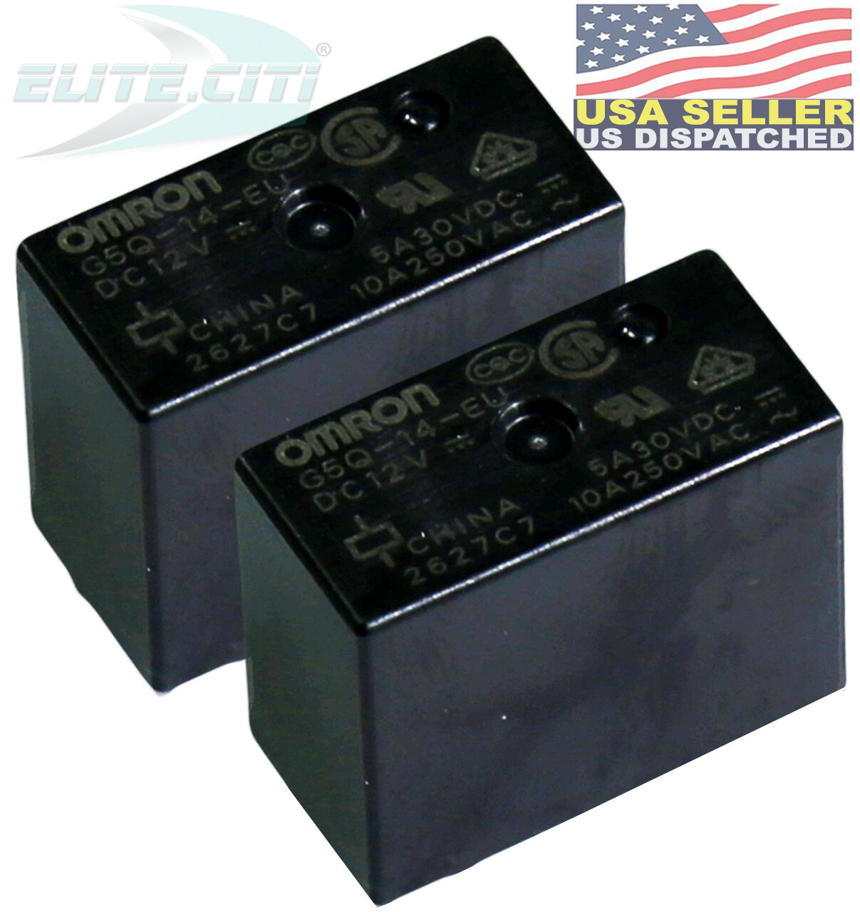 2PCS  OMRON G8P-1A4P 9VDC  relay