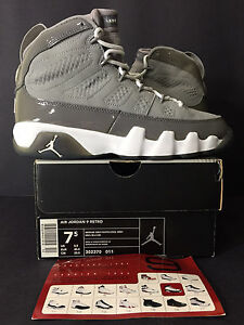 548b11cee3d9 2002 DS NEW NIKE AIR JORDAN IX 9 RETRO COOL GREY MEN 7.5 WOMEN 9 ...