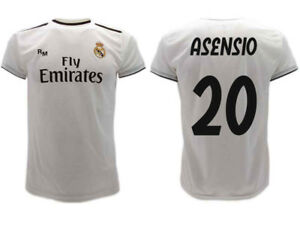 quality design 16a9d 15dc7 Details about Shirt Real Madrid Asensio 2019 Official Uniform 2018 Marco 20  Home Bianca