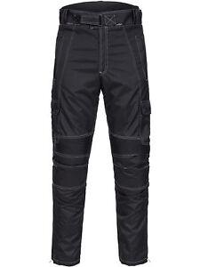 Limitless-Herren-Motorrad-Kombi-Hose-Cordura-Textil-Schwarz-Gr-M-bis-4XL-782